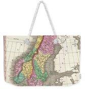 1827 Finley Map Of Scandinavia Norway Sweden Denmark Weekender Tote Bag