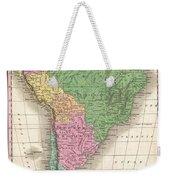 1827 Finley Map Of South America Weekender Tote Bag