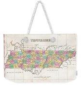 1827 Finley Map Of Tennessee Weekender Tote Bag