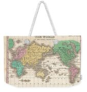1827 Finley Map Of The World Weekender Tote Bag