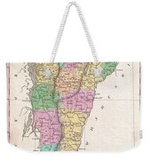 1827 Finley Map Of Vermont Weekender Tote Bag