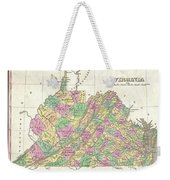 1827 Finley Map Of Virginia Weekender Tote Bag