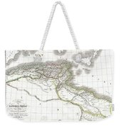 1829 Lapie Historical Map Of Empire Of Carthage Weekender Tote Bag