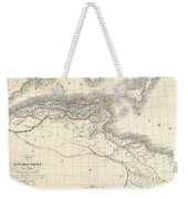 1829 Lapie Historical Map Of The Barbary Coast In Ancient Roman Times Weekender Tote Bag