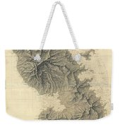 1831 Depot De La Marine Nautical Chart Or Map Of Martinique West Indies Weekender Tote Bag