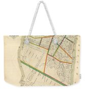 1831 Hooker Map Of New York City Weekender Tote Bag