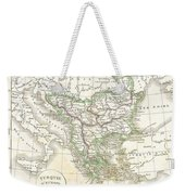 1832 Delamarche Map Of Greece And The Balkans Weekender Tote Bag