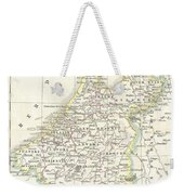 1832 Delamarche Map Of Holland And Belgium Weekender Tote Bag