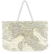 1832 Delamarche Map Of Northern Italy And Corsica Weekender Tote Bag