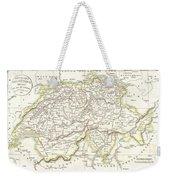 1832 Delamarche Map Of Switzerland Weekender Tote Bag