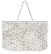 1832 Malte Brun Map Of The World On Mercator Projection Weekender Tote Bag