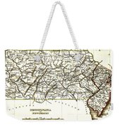 1835 Pennsylvania And New Jersey Map Weekender Tote Bag