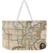 1835 Webster Map Of The United States Weekender Tote Bag