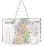 1836 Tanner Map Of Palestine  Israel  Holy Land Weekender Tote Bag
