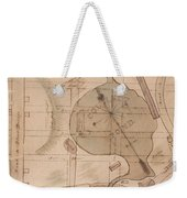 1840 Manuscript Map Of The Collect Pond And Five Points New York City Weekender Tote Bag