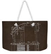 1844 Charles Goodyear India Rubber Goods Patent Espresso Weekender Tote Bag