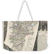 1852 Levasseur Map Of The Department L Aisne France Weekender Tote Bag