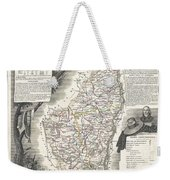 1852 Levasseur Map Of The Department L Ardeche France Weekender Tote Bag