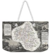 1852 Levasseur Map Of The Department L Aveyron France Roquefort Cheese Region Weekender Tote Bag