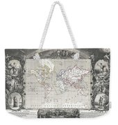 1852 Levasseur Map Of The World Weekender Tote Bag