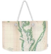 1852 Us. Coast Survey Chart Or Map Of The Chesapeake Bay And Delaware Bay Weekender Tote Bag