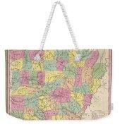 1853 Mitchell Map Of Arkansas Weekender Tote Bag
