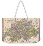 1853 Mitchell Map Of Switzerland  Weekender Tote Bag