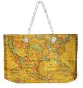 1854 Jacob Monk Wall Map Of North America Weekender Tote Bag