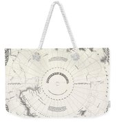 1855 Colton Map Of Antarctica The South Pole Or The Southern Polar Regions Weekender Tote Bag