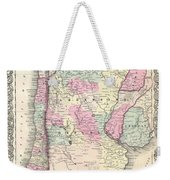 1855 Colton Map Of Argentina Chile Paraguay And Uruguay Weekender Tote Bag