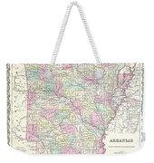 1855 Colton Map Of Arkansas Weekender Tote Bag