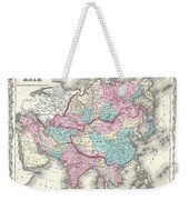 1855 Colton Map Of Asia Weekender Tote Bag