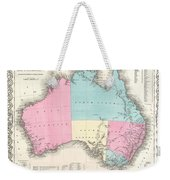 1855 Colton Map Of Australia Weekender Tote Bag