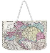 1855 Colton Map Of Austria Hungary And The Czech Republic Weekender Tote Bag