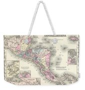 1855 Colton Map Of Central America And Jamaica Weekender Tote Bag