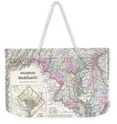 1855 Colton Map Of Delaware Maryland And Washington Dc Weekender Tote Bag