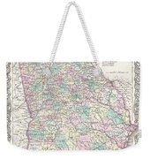 1855 Colton Map Of Georgia Weekender Tote Bag