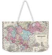 1855 Colton Map Of Hanover And Holstein Germany Weekender Tote Bag