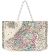 1855 Colton Map Of Holland And Belgium Weekender Tote Bag