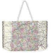 1855 Colton Map Of Indiana Weekender Tote Bag