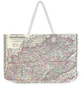 1855 Colton Map Of Kentucky And Tennessee Weekender Tote Bag