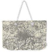 1855 Colton Map Of London Weekender Tote Bag