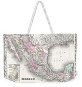 1855 Colton Map Of Mexico - Geographicus1855 Colton Map Of Mexico - Geographicus Weekender Tote Bag