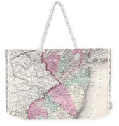 1855 Colton Map Of New Jersey Weekender Tote Bag