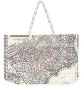 1855 Colton Map Of North Carolina Weekender Tote Bag