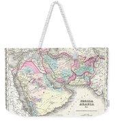 1855 Colton Map Of Persia Afghanistan And Arabia Weekender Tote Bag