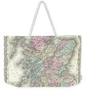 1855 Colton Map Of Scotland Weekender Tote Bag