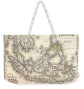 1855 Colton Map Of The East Indies Singapore Thailand Borneo Malaysia Weekender Tote Bag