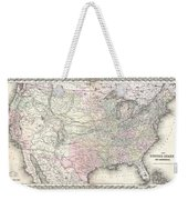 1855 Colton Map Of The United States  Weekender Tote Bag