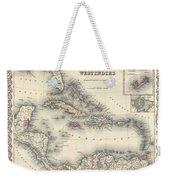 1855 Colton Map Of The West Indies Weekender Tote Bag